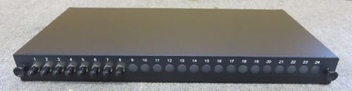 "24 Port 19"" 1U Rack Mount Fibre Optic Patch Panel ST Multimode Adapters"